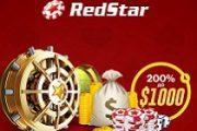 Казино Red Star за регистрацию дарит приветственный бонус