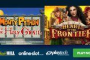 Игровые автоматы Heart of the Frontier и Monty Python & The Holy Grail Slots уже в игре